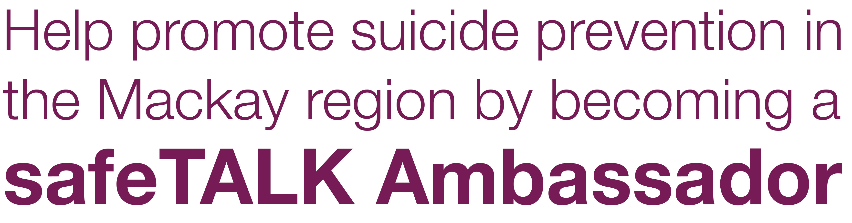 suicide prevention mackay