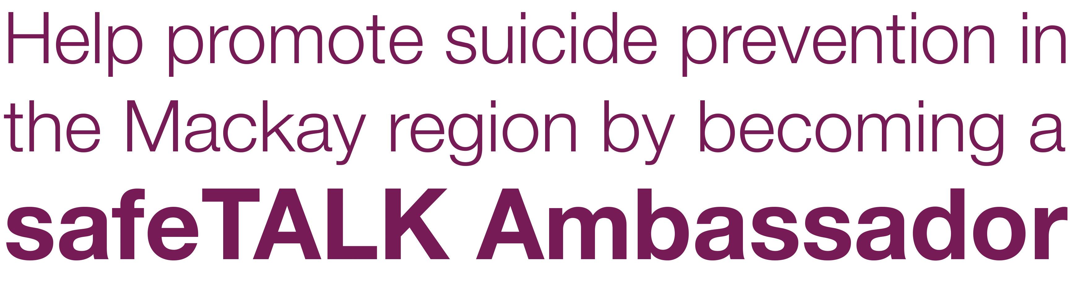 suicide prevention mackay